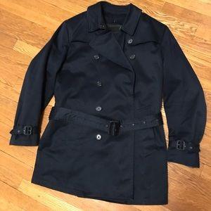 Banana Republic Navy Cotton Trench Coat